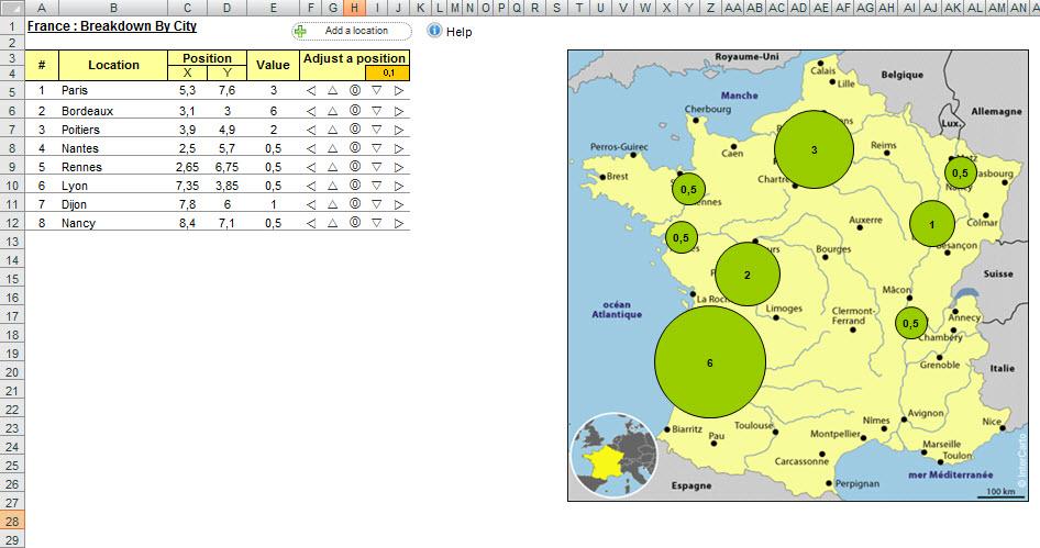 Carte Belgique Excel.Telechargement Graphique Geographique Sous Excel Mariez